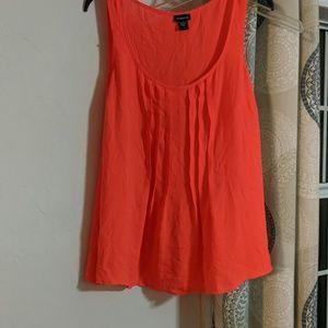 Neon orange rayon shirt